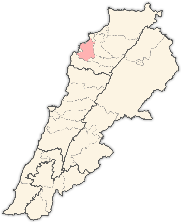 location of Koura in Lebanon